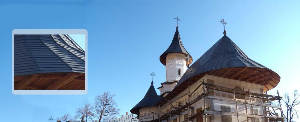 Tabla pentru acoperis furnizata de Cuprumetal.ro – Manastirea Bisericani  Neamt